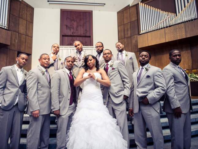 Janet and the Groomsmen