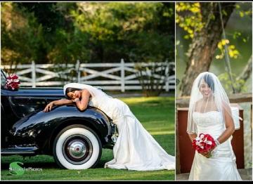 Dani James on her wedding day