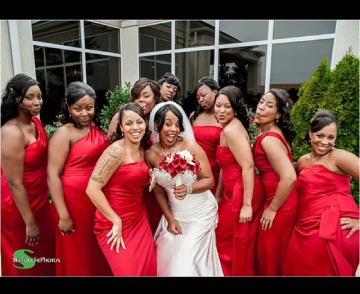 Dani and her bridesmaids