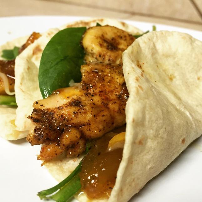 Mango Chutney Chicken Tacos